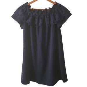 JODIFL Women's Navy Lace Mini Dress